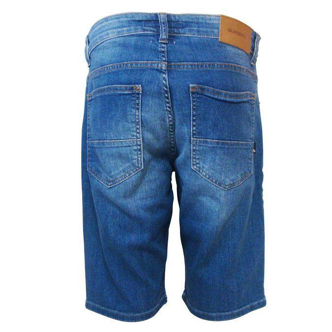 Bermuda Jeans Quiksilver Azul Médio