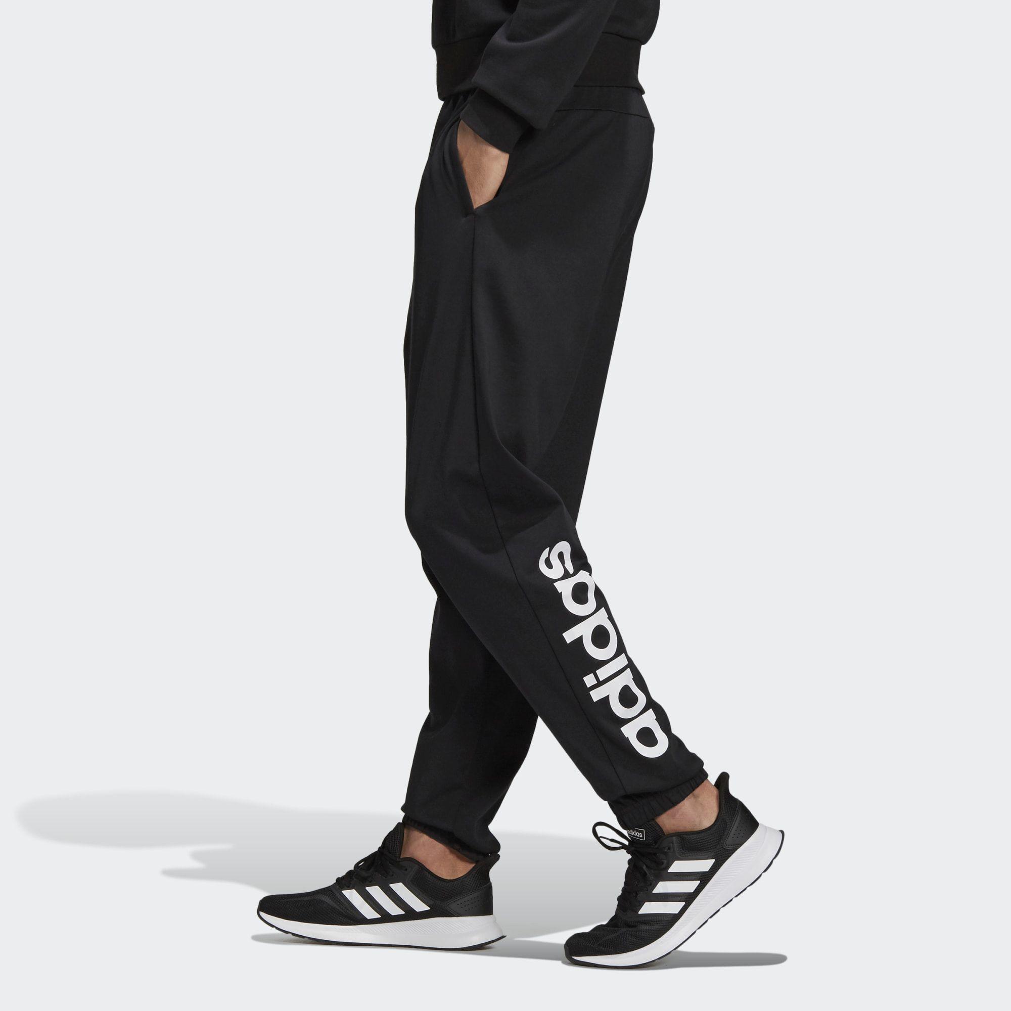 Calça Afunilada  Adidas Essentials Linear