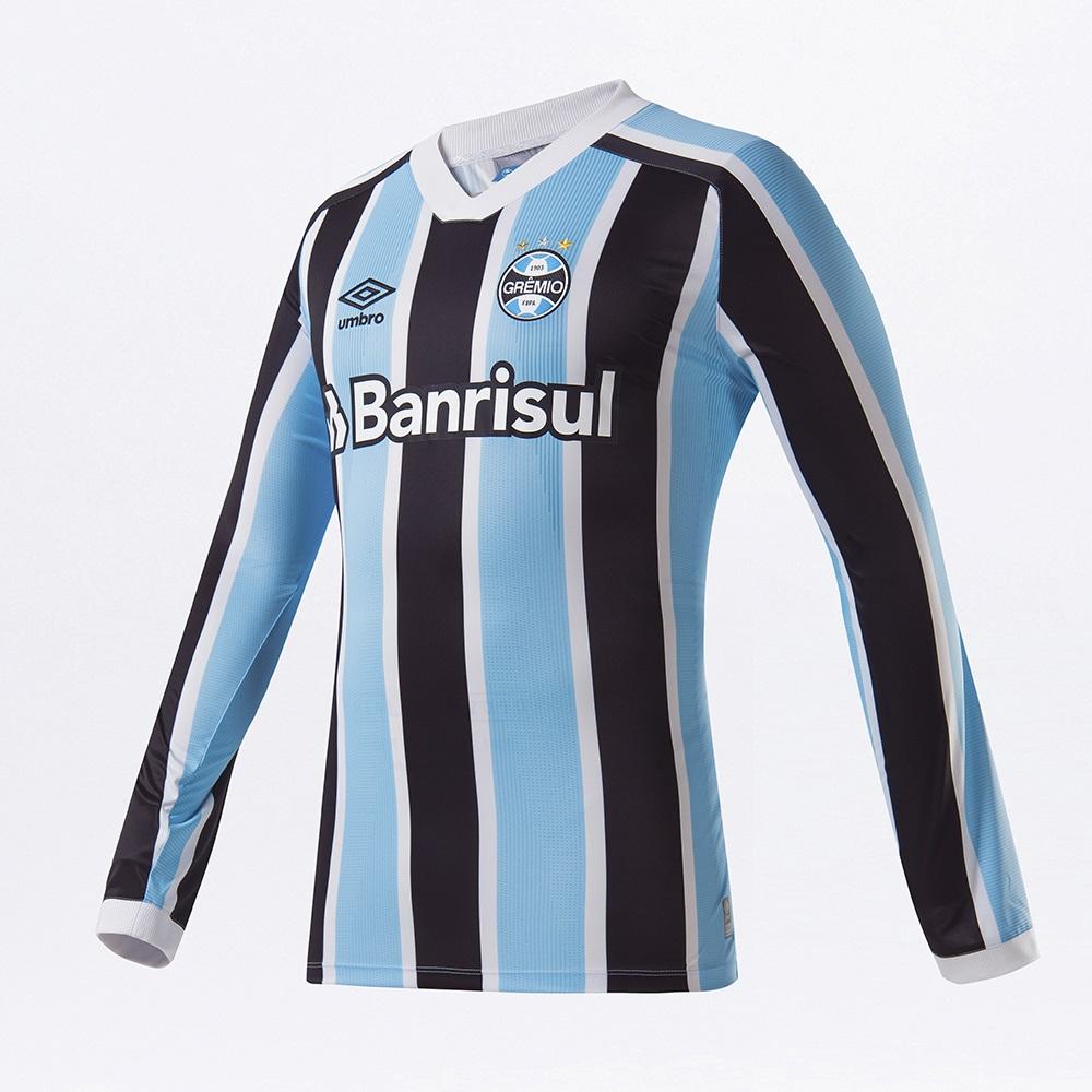 Camisa Manga Longa Umbro Grêmio Oficial I Classic