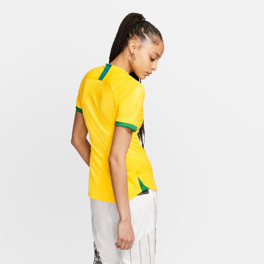 Camisa Nike Dri-FIT Breathe CBF Brasil Stadium Home Feminina