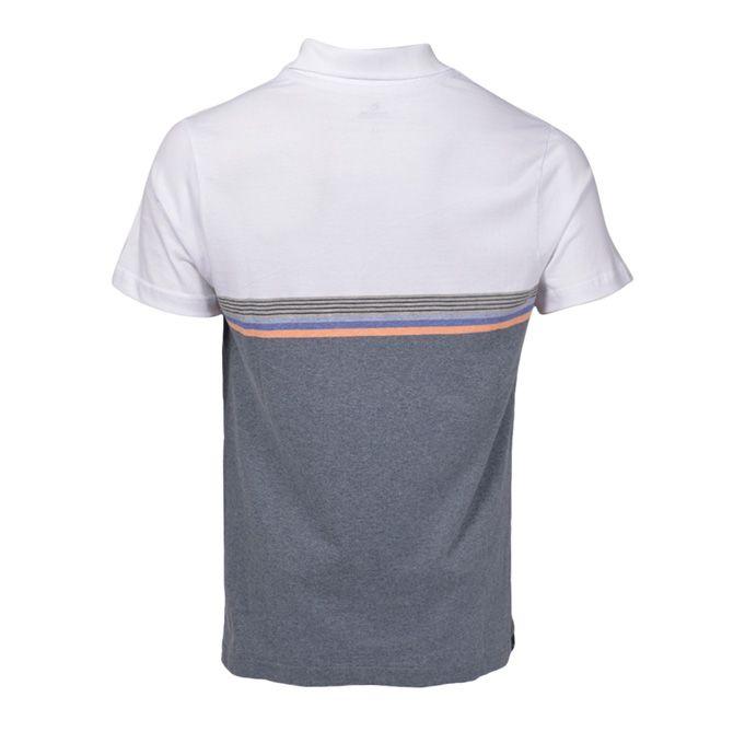 Camisa Polo Rip Curl Fine Stripe White