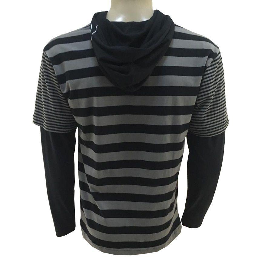 Camiseta Quiksilver Manga Longa Striped (JUVENIL)