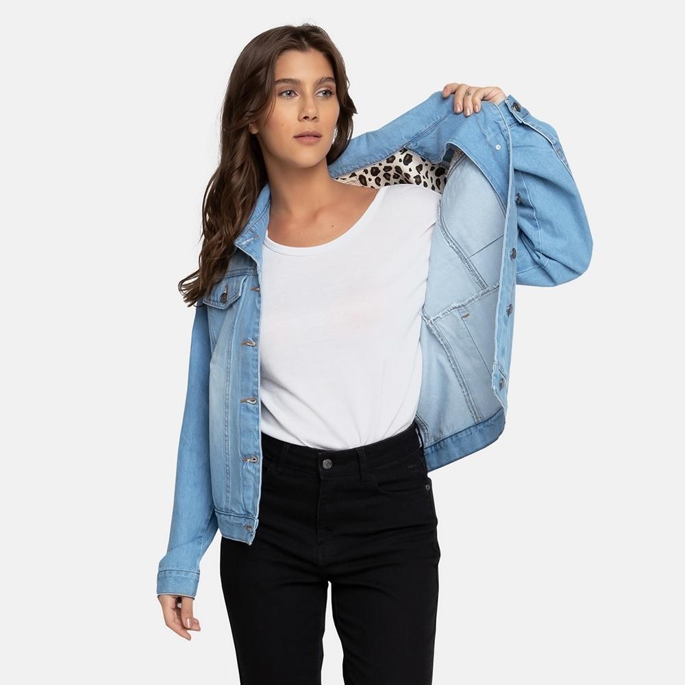 Jaqueta Jeans Billabong Such A Trip Feminina