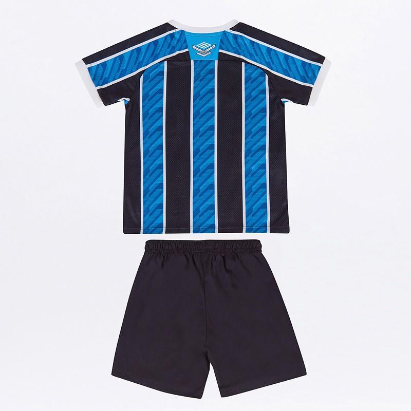 Kit Calção e Camisa Umbro Grêmio Oficial I 2020 INFANTIL