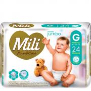 Fralda MILI LOVE & CARE Jumbo G 24 Unidades - 1042