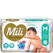 Fralda MILI LOVE & CARE Jumbo M 26 UNIDADES - 1041
