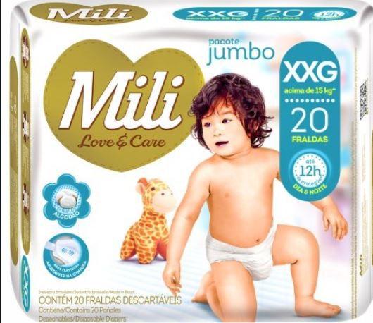 Fralda MILI LOVE & CARE Jumbo XXG 20 Unidades - 1044