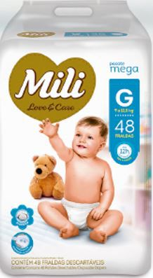 Fralda MILI LOVE & CARE MEGA G 48 UNIDADES - 1187
