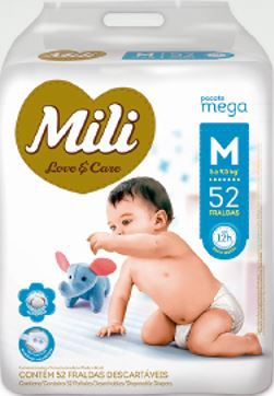 Fralda MILI LOVE & CARE MEGA M 52 UNIDADES - 1186