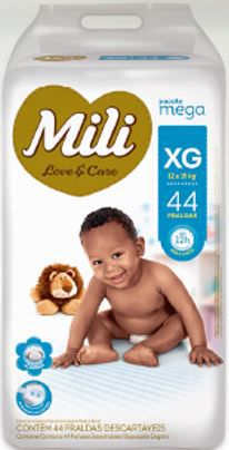 Fralda MILI LOVE & CARE MEGA XG 44 UNIDADES - 1188