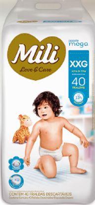Fralda MILI LOVE & CARE MEGA XXG 40 UNIDADES - 1189