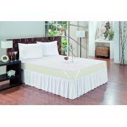Protetor de colchão impermeável Branco 1 Face Solteiro