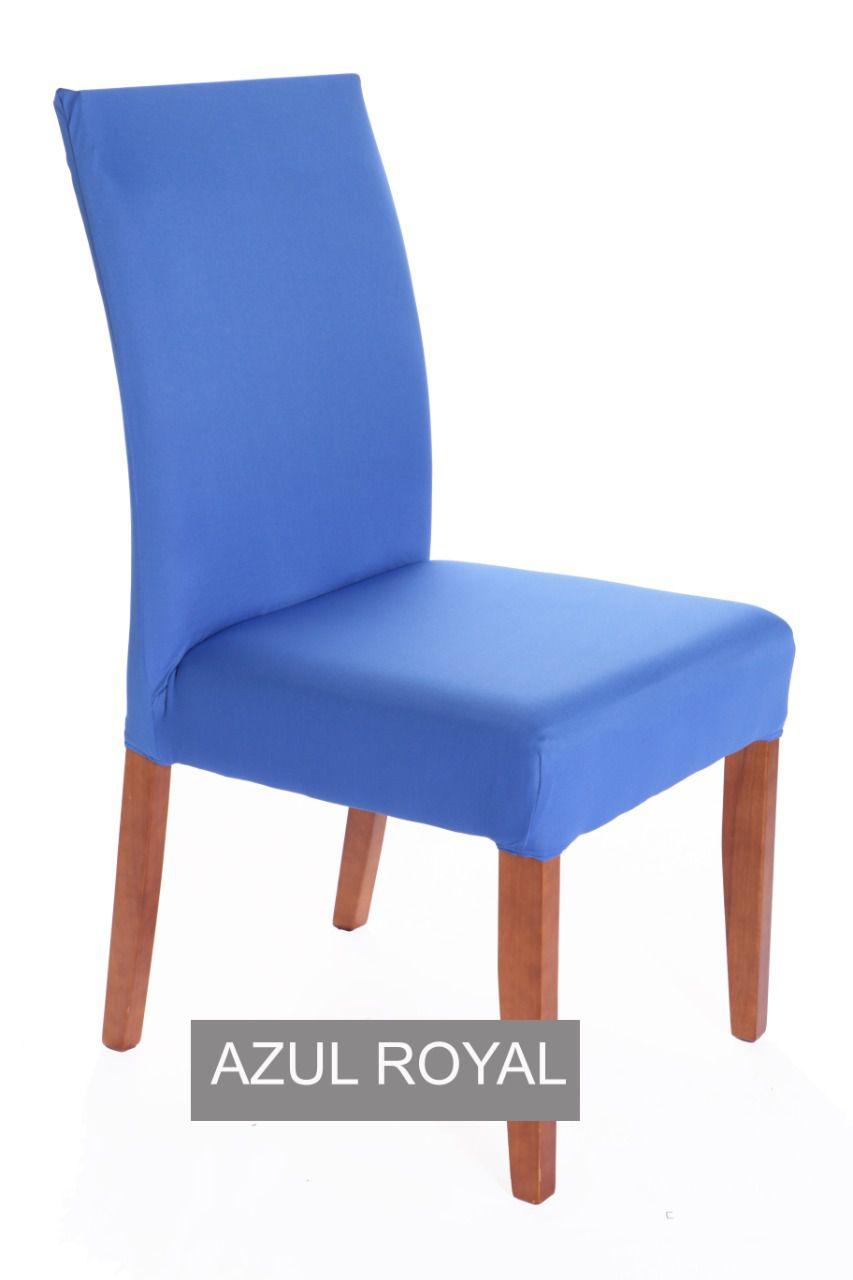 Capa para cadeira com estofado Kit com 04 Unidades - AZUL ROYAL
