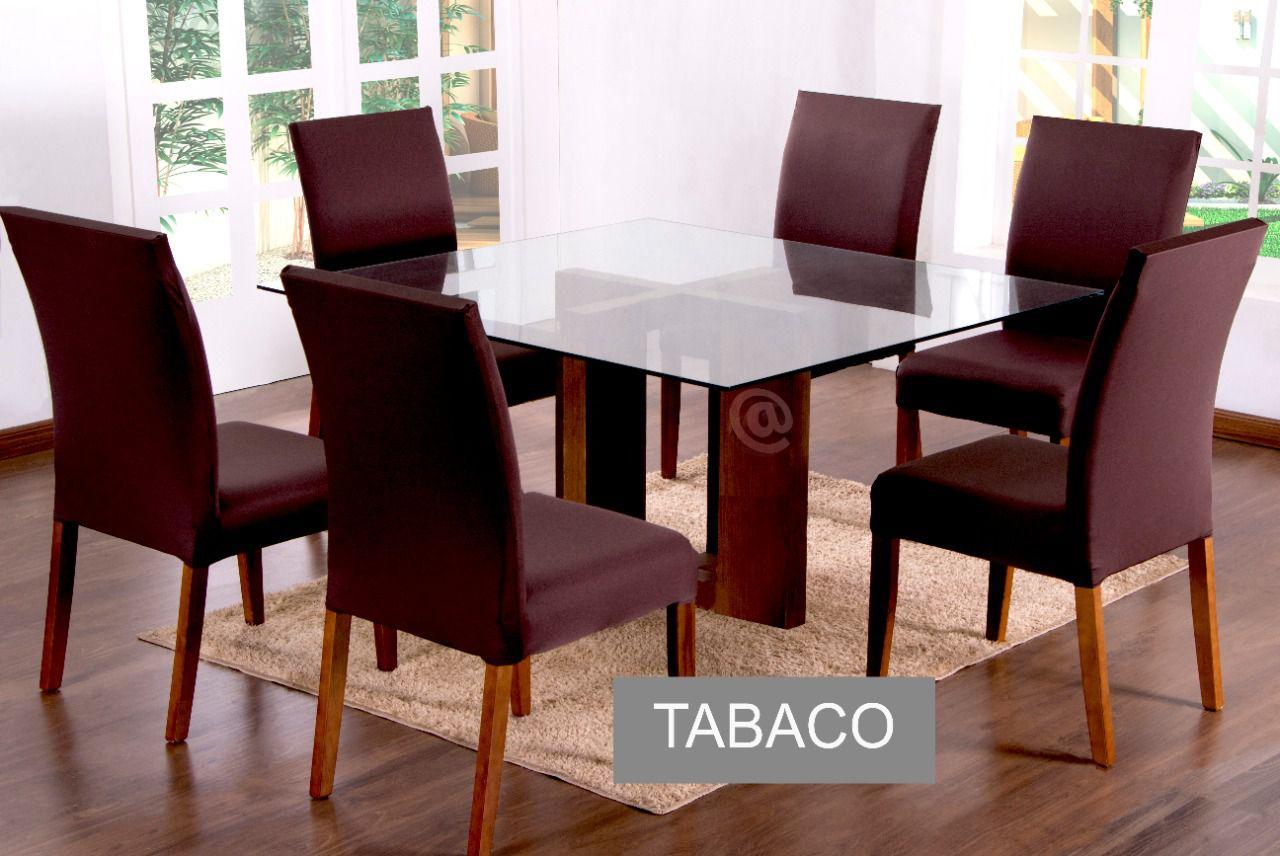 Capa para Cadeira com estofado Kit com 06 Unidades cor Tabaco