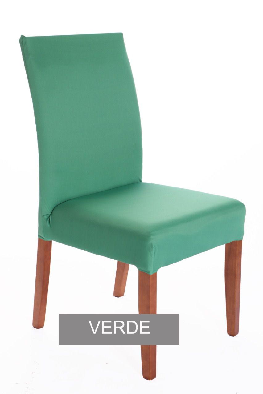 Capa para cadeira com estofado  Kit com 06 Unidades- VERDE