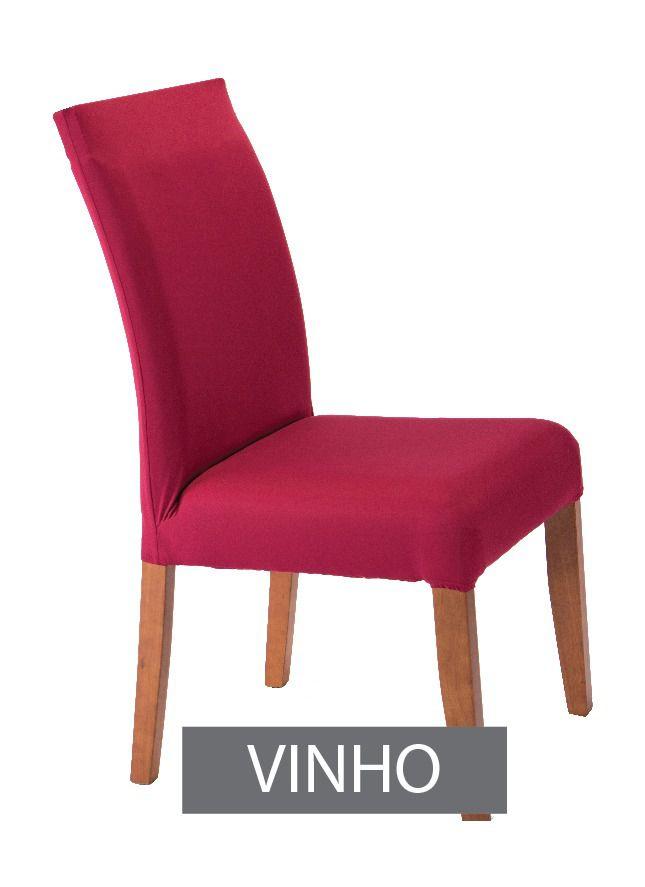 Capa para Cadeira com estofado Kit com 06 Unidades  Vinho
