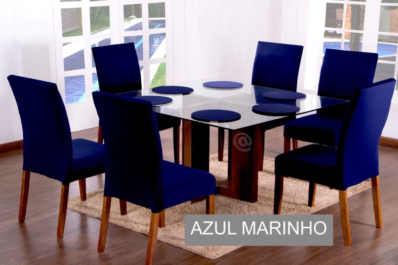 KIT SOUSPLAT  COM 4 UNIDADES AZUL MARINHO