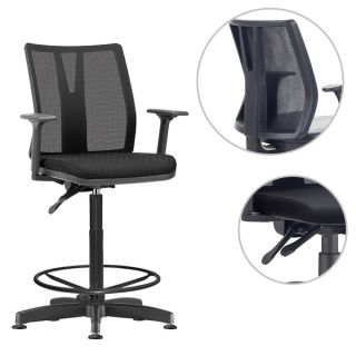Cadeira Caixa Diretor em Tela Reclinável Addit NR -17
