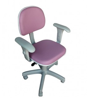 Cadeira de Escritório Secretária com Braço Base Cinza - Giratória