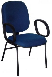 Cadeira Recepção Diretor Tradicional - Pés Palito