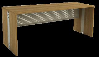 Mesa Reta com Passa Fios de 25 mm 68 cm de Profundidade - Aço - Attuale