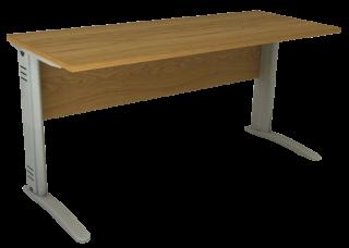 Mesa Reta de 18 mm e 60 cm de Profundidade - Saia de Madeira - Impéria Premium