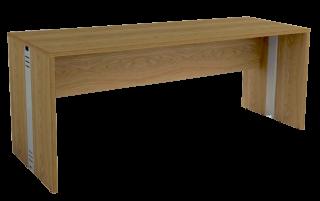 Mesa Reta com Passa Fios de 25 mm 60 cm de Profundidade - Madeira - Attuale