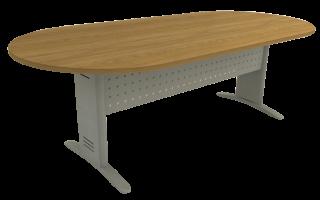 Mesa Reunião Oval de 25 mm - Saia de Aço - Impéria Premium