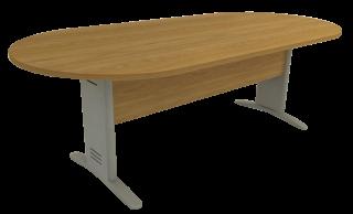 Mesa Reunião Oval de 25 mm - Saia de Madeira - Impéria Premium
