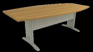 Mesa Reunião Semi-Oval de 25 mm - Saia de Aço - Impéria Premium