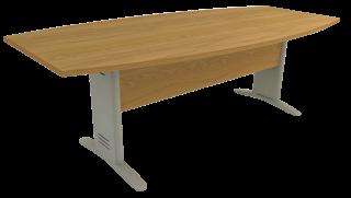 Mesa Reunião Semi-Oval de 25 mm - Saia de Madeira - Impéria Premium