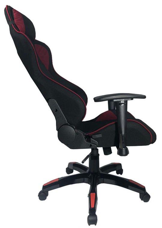 Cadeira Gamer com Reclinação de 180° - Preto / Vinho  - Tinay Móveis Ltda