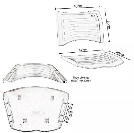 Cadeira Plastica Fixa Poli  - Tinay Móveis Ltda