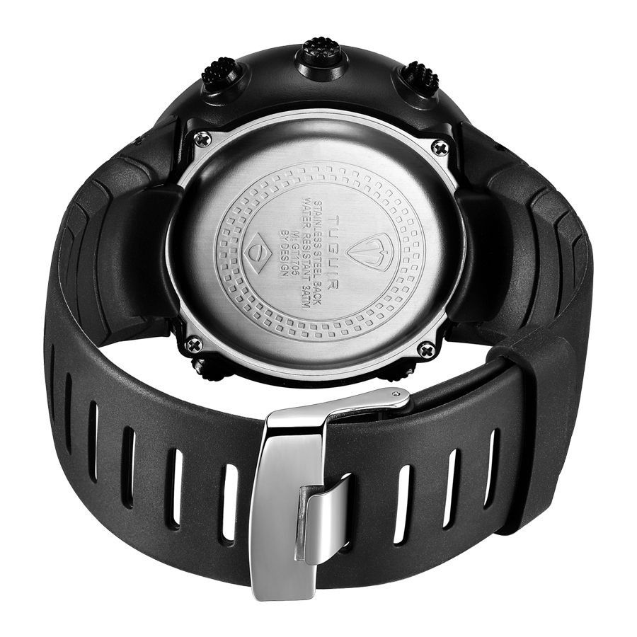92ea92e6cc4 Relógio Masculino Tuguir Digital TG1705 Preto - Mais Bela