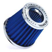 Filtro de Ar Esportivo Duplo Fluxo Race Chrome Rc031 Alumínio