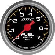 Manômetro ODG Evolution Combustível Fuel 7 bar 52mm