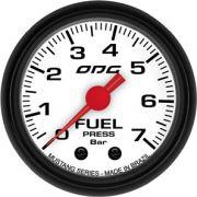 Manômetro ODG Mustang Combustível Fuel 7 bar 52mm