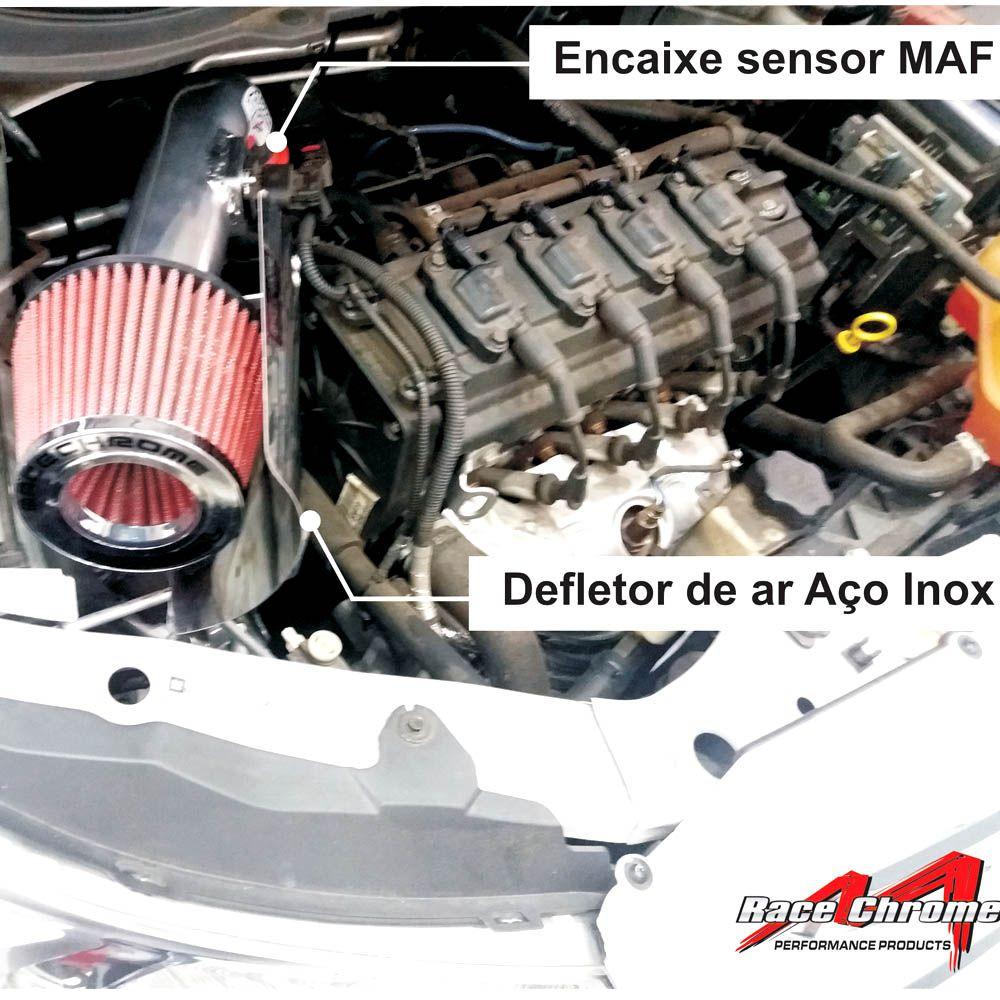Filtro Ar Esportivo Air Intake RC080 GM Onix 1.0 1.4 Prisma