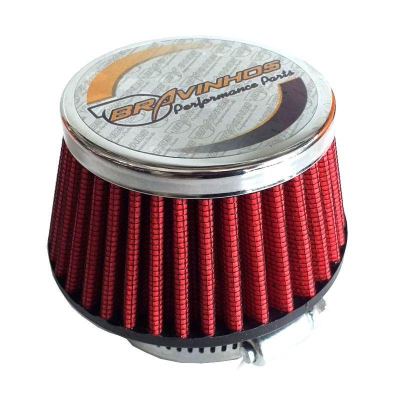 Filtro de Ar Esportivo Cônico Fusca Mini 50mm
