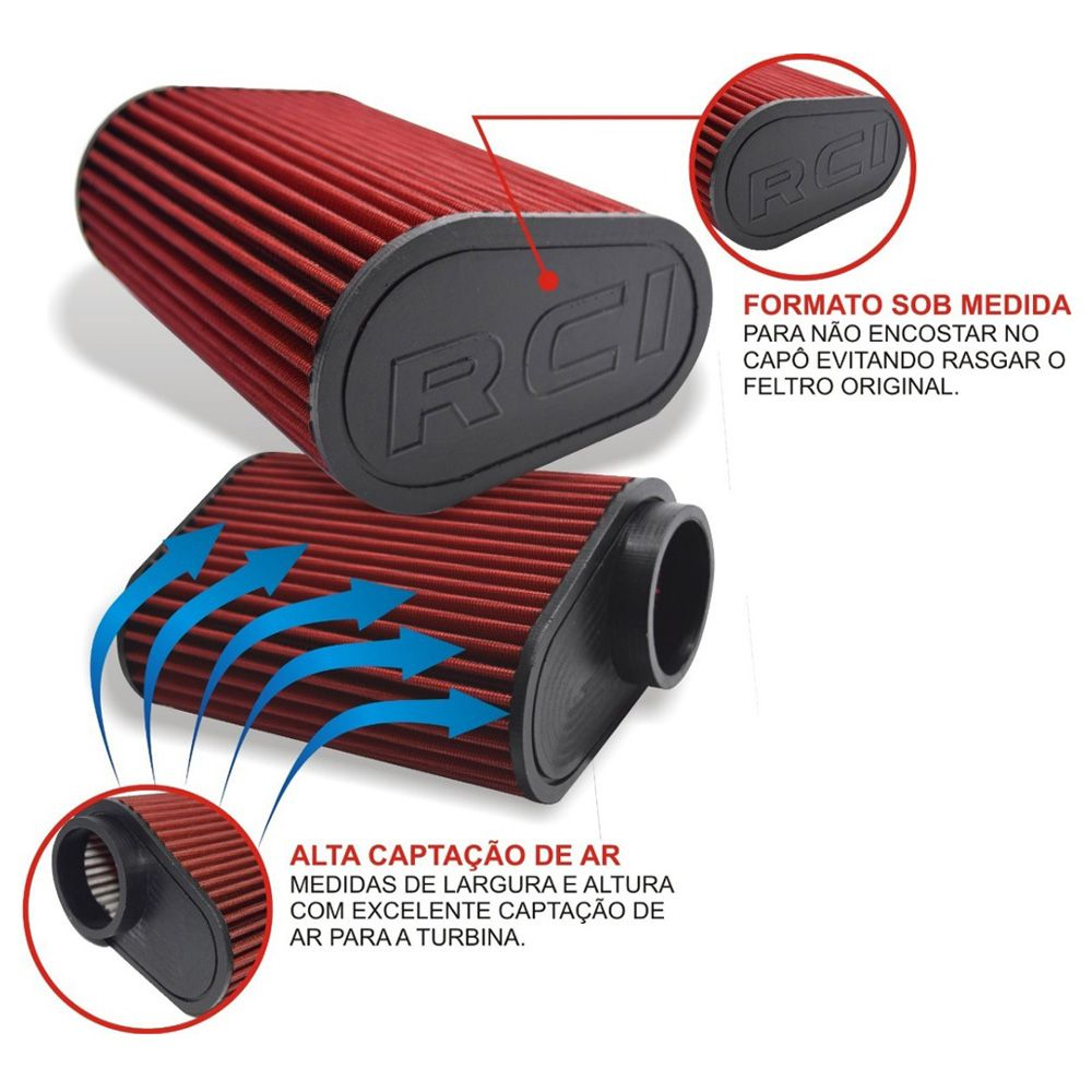 Kit Intake Air Cool Filtro Esportivo VW UP TSi RCi063