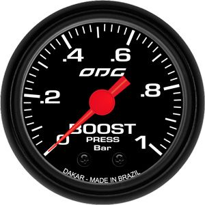 Manômetro ODG Dakar Turbo Boost 1 bar 52mm