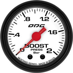 Manômetro ODG Mustang Turbo Boost 2 bar 52mm