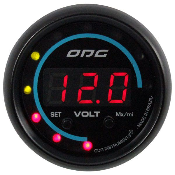 Voltímetro Digital ODG Dakar 52mm