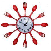Relógio De Parede Para Cozinha Formato De Talheres