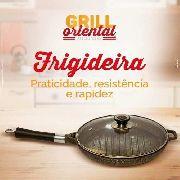 Frigideira Marmorizada Antiaderente Grill Oriental