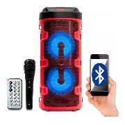 Caixa De Som Bluetooth Amplificada Portátil Com Bateria Usb 700w E Brinde