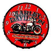 Relógio De Parede Harley Davidson Vintage Retro Em Aço 43 Cm