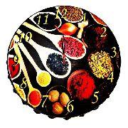 Relógio Parede Cozinha Caulinaria Gourmet Em Aço 43 Cm