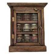 Porta Temperos E Condimentos Armario Com 9 Vidros Com Temperos