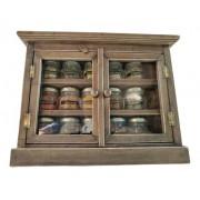 Armário Porta Temperos Condimento Com 15 Vidros Com Temperos